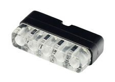 Motorcycle LED Number Plate Light & bracket - E-Marked (road legal) - universal