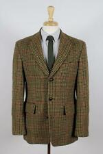 J. Crew M (40R) Green Check Tweed 3B Mens Elbow Patch Sport Coat Blazer Jacket
