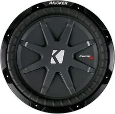 """2 KICKER 40CWRT121 CAR 12""""1 OHM COMPRT SHALLOW MOUNT SUBWOOFERS SUB WOOFERS PAIR"""