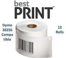 "12 Rolls of 300 Labels 2 5/16"" x 4""  For DYMO® LabelWriter® 30256 Compatible"