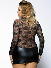 PLUS Size Sexy LACE and Wetlook Micro Mini Dress or Top 10 12 14 16 18 20 22