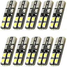 10pcs T10 8 SMD 2835 Warm White 194 168 W5W CANBUS OBC ERRO FREE Light LED Bulb