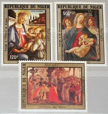 NIGER 1983 872-74 C329-31 Botticelli Paintings Christmas Weihnachten Religion **