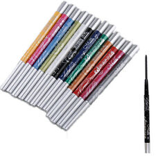 Hot 12 Colors Glitter Eye Shadow Eyeliner Lip Liner Pencil Cosmetic Makeup Set U