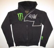FOX Racing Monster Energy #4 Carmichael Full Zip Heavy Hoodie Sweatshirt sz S