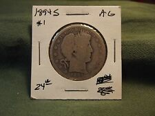 1894S AG silver Liberty Barber Half Dollar, see our store for more coins #1