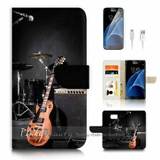 Samsung Galaxy S7 Flip Wallet Case Cover P2717 Band Music