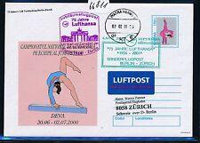 66811) LH SF Berlin - Zürich Schweiz 6.4.2001, Br.Tor, Rumänien GAU sports
