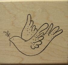 PEACE DOVE Rubber Stamp 960-I Rubber Soul Brand NEW! Christmas Holiday bird
