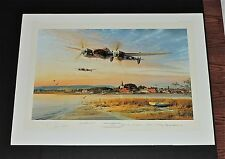 Robert Taylor - Coming In Over The Estuary  - Collectible WW II Aviation Print