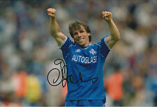 Gianfranco ZOLA SIGNED COA Autograph 12x8 Photo AFTAL RARE CHELSEA Authentic