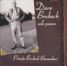 Dave Brubeck - Solo Piano Private Brubeck Remembers (CD DSD Telarc) NOT 2 CD ED!