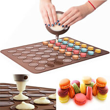 48cavity Silicone Macaron Baking Sheet Mat Muffin DIY Cake Pastry Chocolate Mold