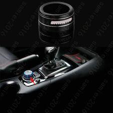 Black Aluminium Gear Shift Panel Button Ring Trim Cover For Mazda CX-3 CX3 16-17