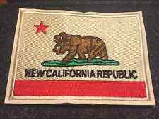 New California Republic Flag Patch Iron-On Fallout Cosplay Game37 NCR Vegas