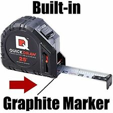 QuickDraw 25' Precision Measuring Tape, Contractor Ruler, Self Marking Tech, NEW