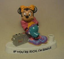 "1988 Minnie Mouse Comic Charakter Stifthalter / Pen Holder ""If you´re rich..."""