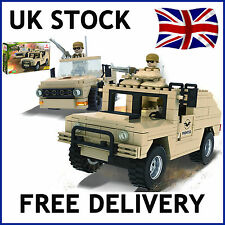 MILITARY ARMY JEEP DESERT BUILDING BRICKS BLOCKS 300 PCS SET COMPATIBLE 18302