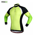 Men Fleece Thermal Winter Cycling Jackets Windproof Long Sleeve Jersey Clothing