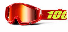 100% MASCHERINA OCCHIALE RACECRAFT CORVETTE ROSSO MOTO CROSS ENDURO GOGGLE