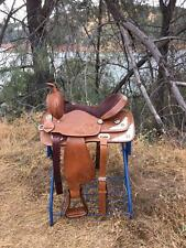 "15"" New Oiled Tan Western Texas Star Show/pleasure Trail Saddle Only"