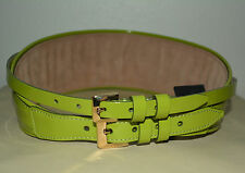 NWT BURBERRY PRORSUM $595 RUNWAY DOUBLE BUCKLE LEATHER BELT SZ 28 MADE IN ITALY