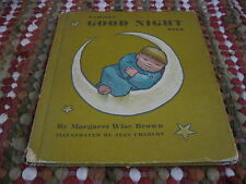 A Child's Good Night Book by Margaret Wise Brown 1950s