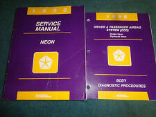 1996 DODGE / PLYMOUTH NEON SHOP MANUAL SET / 2 ORIGINAL SERVICE BOOKS
