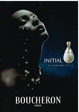 "Publicité Advertising 2000 Parfum ""Initial"" par Boucheron"