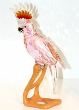 Swarovski Crystal PINK COCKATOO Red Large Bird Paradise Garden 718565 New In Box