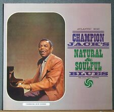 Champion Jack Dupree Natural & Soulful Blues Atlantic 8045 Mono Original Mint-