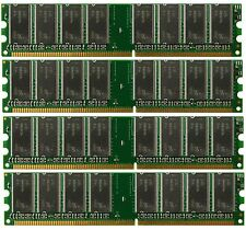 4GB 4x1GB Memory Intel D865PERL PC2700 DDR (NON-ECC)