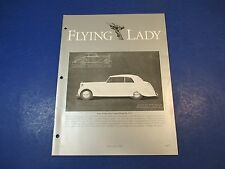 The Flying Lady Rolls-Royce, Magazine May/June 1992 James Young Saloon Coupe C10