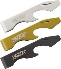"""Marbles MR322 Hat Clip Bottle Opener/Screwdriver Silver/Grn/Blk 2.25"""" Set Of 3"""
