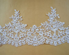 Bridal Lace Trimming Ivory Embroidered Trim Ribbon Corded Wedding Edging 6.6""