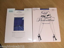 AGENT PROVOCATEUR RARE PURPLE SEAM & HEEL HOLD UP STOCKINGS SIZES 1 SMALL BNWT