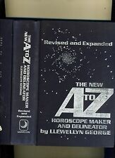 THE NEW A TO Z HOROSCOPE MAKER-LLEWELLYN GEORGE-1981. HB-ASTROLOGY CLASSIC-VG+