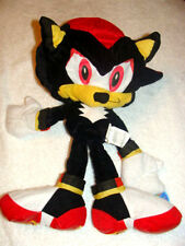 "NEW WITH TAGS -SONIC -X- THE HEDGEHOG  SHADOW-PLUSH 17"" FLOPEE"