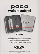 Paco Rabanne Watch Coffret 1997 Magazine Advert #7515