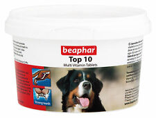 BEAPHAR TOP 10 DOG MULTI VITAMIN TABLETS 180 TABLETS / 117g VITAMINS & MINERALS