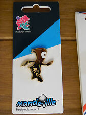 LONDON 2012 PARALYMPICS PIN BADGE GOLD MANDEVILLE MASCOT LOGO OLYMPIC GAMES