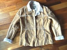 l.e.i. WOMENS XL Brown FAUX SUEDE and FAUX SHERPA Lining JACKET Coat