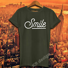 SMILE not today T-shirt Fashion hipster funny slogan Ladies Mens Unisex T shirt