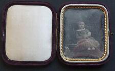 Daguerréotype Petite Fille Dans son Ecrin 1850