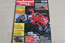 164721) Honda VTR 1000 F vs Suzuki TL 1000 S - Motorrad Reisen Sport 01/1997
