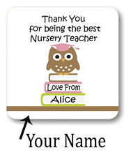 New Personalised Coaster Gift Thank You For Being The Best Nursery Teacher NC119