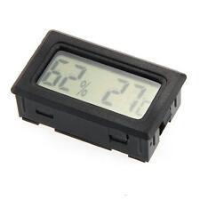 Termómetro Higrómetro Digital Medidor de Temperatura Humedad Acuario Negro
