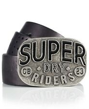 Superdry Dry Rider Mens Leather Belt - Black