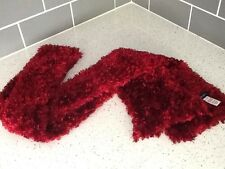 PRINCIPLES Knitted Scarf DARK RED BURGUNDY Chunky Knit Long Scarf
