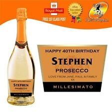PERSONALISED PROSECCO CHAMPAGNE BOTTLE LABEL BIRTHDAY ANY OCCASION GIFT